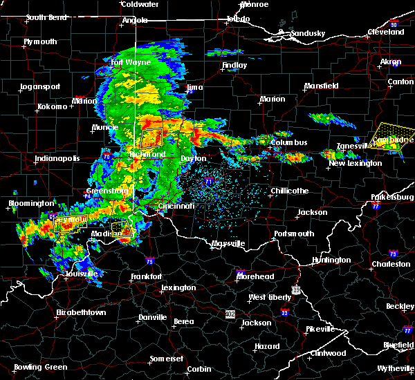 Radar Image for Severe Thunderstorms near Bradford, OH at 5/19/2017 3:54 PM EDT