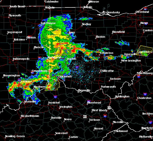 Radar Image for Severe Thunderstorms near Covington, OH at 5/19/2017 4:03 PM EDT