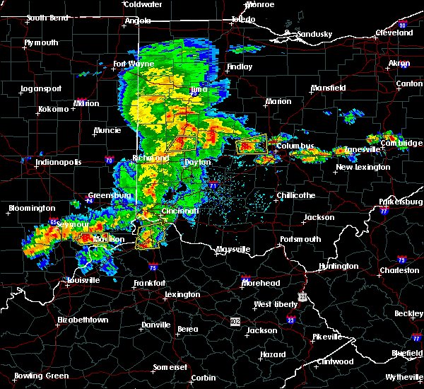 Radar Image for Severe Thunderstorms near Fletcher, OH at 5/19/2017 4:19 PM EDT