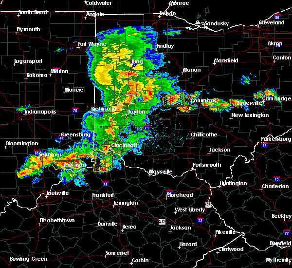 Radar Image for Severe Thunderstorms near Waynesville, OH at 5/19/2017 4:29 PM EDT