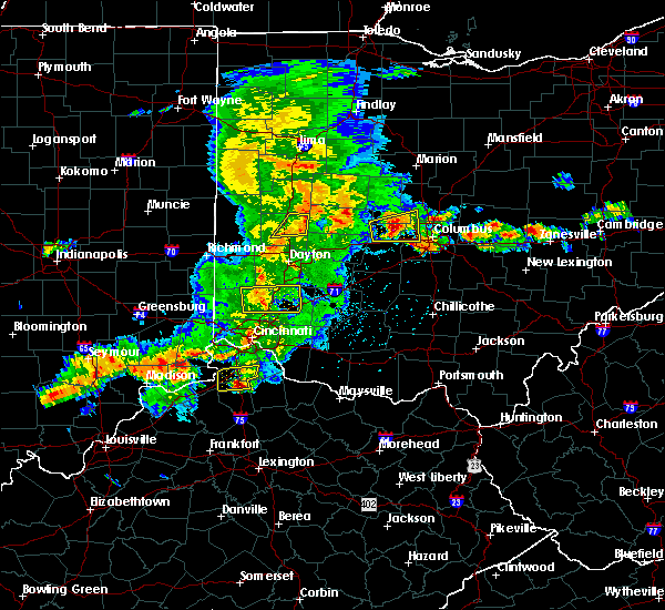 Radar Image for Severe Thunderstorms near Fletcher, OH at 5/19/2017 4:32 PM EDT