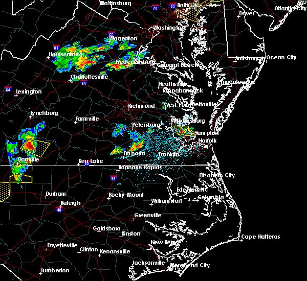 Radar Image for Severe Thunderstorms near Yorktown, VA at 5/19/2017 4:33 PM EDT