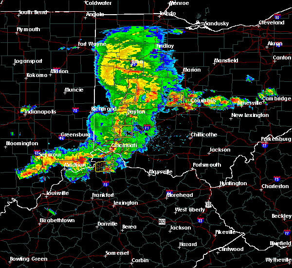 Radar Image for Severe Thunderstorms near Trenton, OH at 5/19/2017 4:39 PM EDT