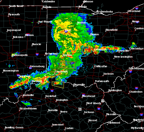 Radar Image for Severe Thunderstorms near Lebanon, OH at 5/19/2017 4:56 PM EDT