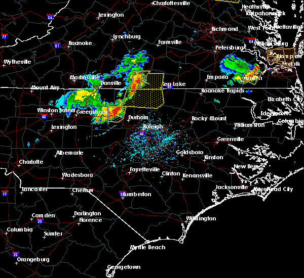 Radar Image for Severe Thunderstorms near Durham, NC at 5/19/2017 5:29 PM EDT