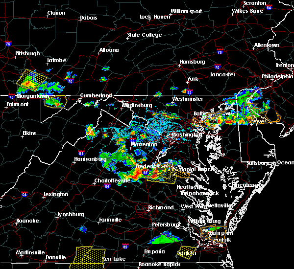 Radar Image for Severe Thunderstorms near King George, VA at 5/19/2017 5:30 PM EDT
