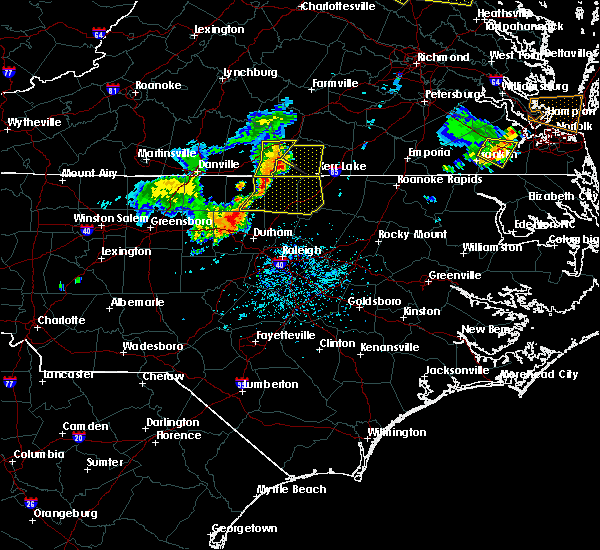 Radar Image for Severe Thunderstorms near Oxford, NC at 5/19/2017 5:36 PM EDT