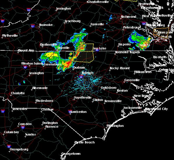 Radar Image for Severe Thunderstorms near Clarksville, VA at 5/19/2017 5:40 PM EDT