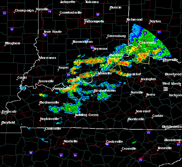 Radar Image for Severe Thunderstorms near Eminence, KY at 5/19/2017 5:43 PM EDT