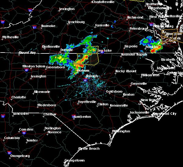 Radar Image for Severe Thunderstorms near Clarksville, VA at 5/19/2017 6:01 PM EDT