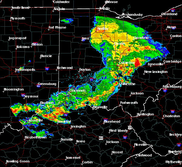 Radar Image for Severe Thunderstorms near Piketon, OH at 5/19/2017 6:08 PM EDT