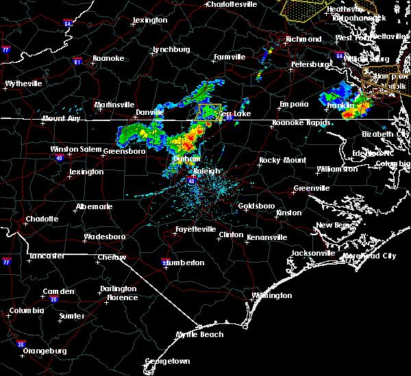 Radar Image for Severe Thunderstorms near Clarksville, VA at 5/19/2017 6:11 PM EDT