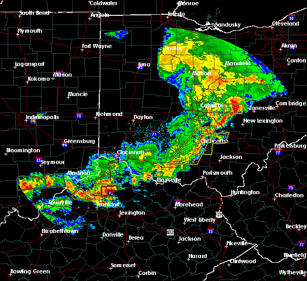 Radar Image for Severe Thunderstorms near Logan, OH at 5/19/2017 6:14 PM EDT