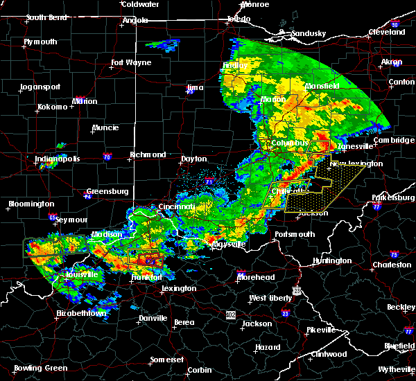 Radar Image for Severe Thunderstorms near Albany, OH at 5/19/2017 6:25 PM EDT