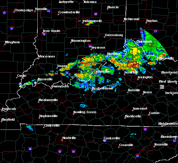 Radar Image for Severe Thunderstorms near Utica, KY at 5/19/2017 6:31 PM EDT