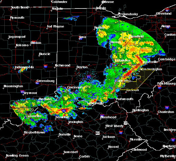 Radar Image for Severe Thunderstorms near Chillicothe, OH at 5/19/2017 6:38 PM EDT