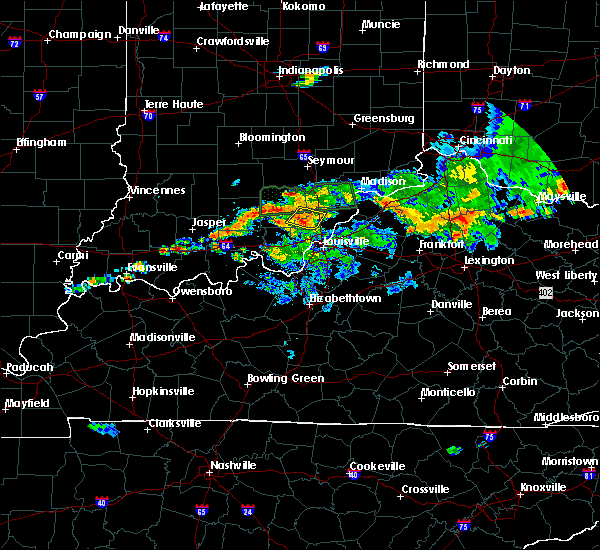Radar Image for Severe Thunderstorms near Henryville, IN at 5/19/2017 6:41 PM EDT