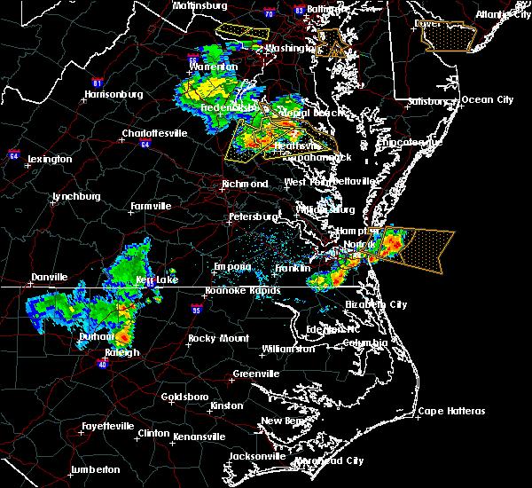 Radar Image for Severe Thunderstorms near Heathsville, VA at 5/19/2017 6:41 PM EDT