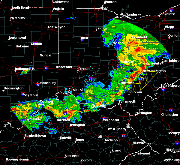 Radar Image for Severe Thunderstorms near Logan, OH at 5/19/2017 6:44 PM EDT