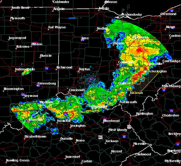 Radar Image for Severe Thunderstorms near Logan, OH at 5/19/2017 6:51 PM EDT