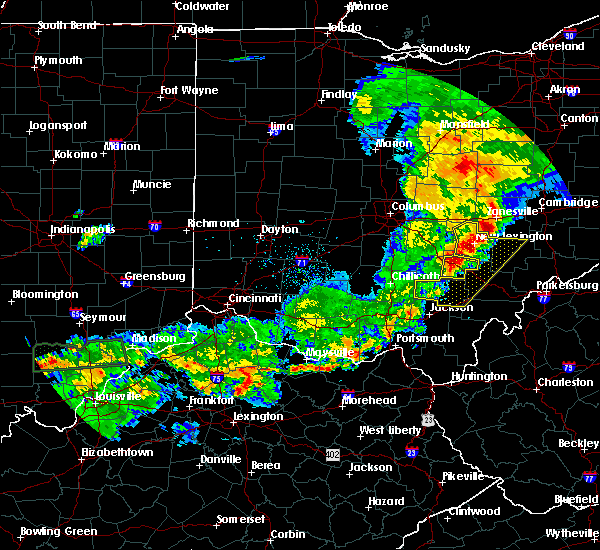 Radar Image for Severe Thunderstorms near Logan, OH at 5/19/2017 6:54 PM EDT