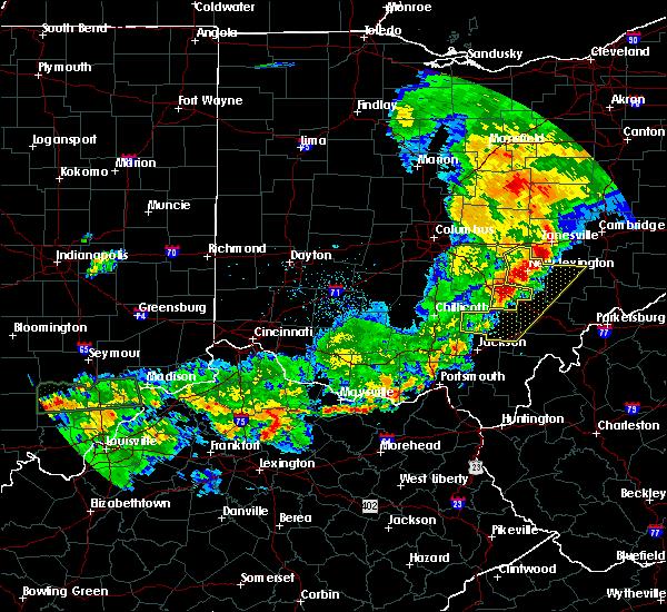 Radar Image for Severe Thunderstorms near Nelsonville, OH at 5/19/2017 6:57 PM EDT