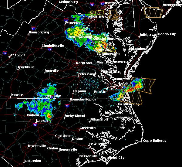 Radar Image for Severe Thunderstorms near Heathsville, VA at 5/19/2017 7:04 PM EDT