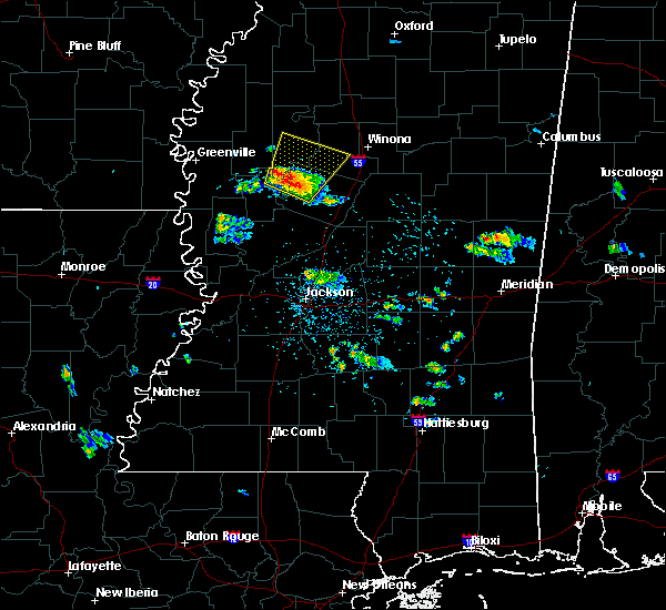 Radar Image for Severe Thunderstorms near Tchula, MS at 5/19/2017 6:52 PM CDT