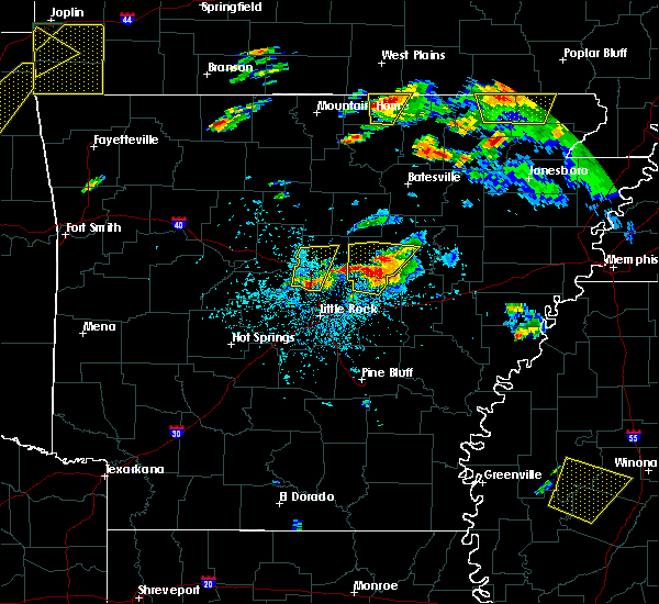 Radar Image for Severe Thunderstorms near Enola, AR at 5/19/2017 7:00 PM CDT