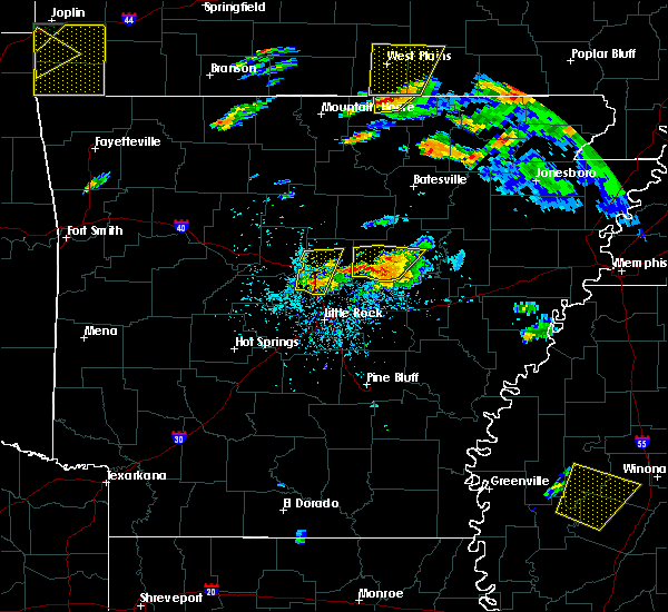 Radar Image for Severe Thunderstorms near Enola, AR at 5/19/2017 7:09 PM CDT