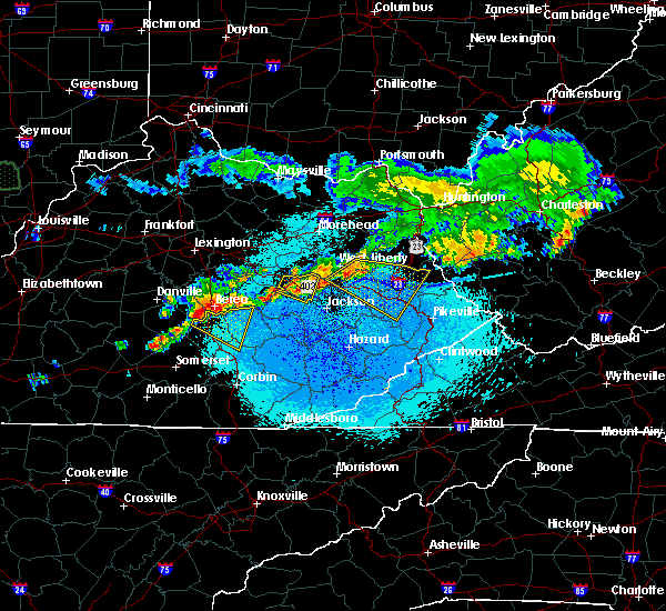 Radar Image for Severe Thunderstorms near McKee, KY at 5/19/2017 9:51 PM EDT