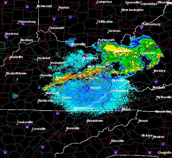 Radar Image for Severe Thunderstorms near Jackson, KY at 5/19/2017 10:24 PM EDT