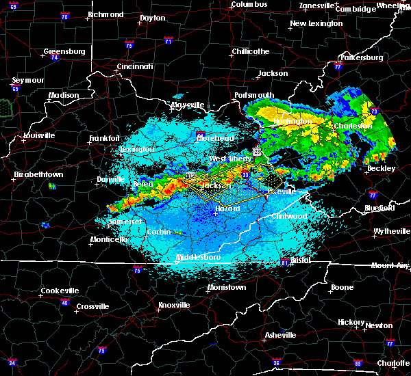 Radar Image for Severe Thunderstorms near Warfield, KY at 5/19/2017 10:34 PM EDT
