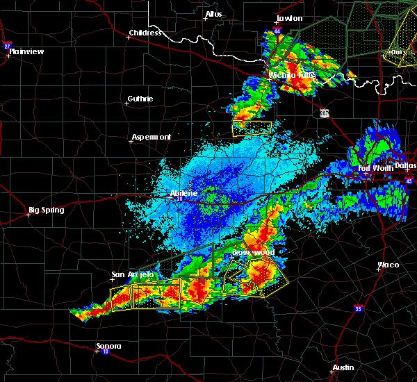 Radar Image for Severe Thunderstorms near Olney, TX at 5/19/2017 9:44 PM CDT