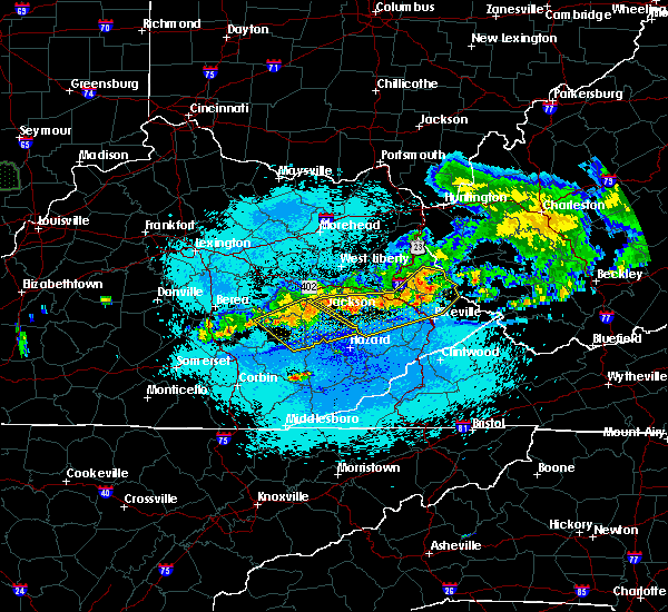 Radar Image for Severe Thunderstorms near Warfield, KY at 5/19/2017 10:56 PM EDT