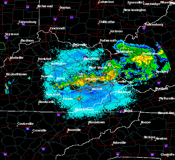 Radar Image for Severe Thunderstorms near Booneville, KY at 5/19/2017 11:03 PM EDT