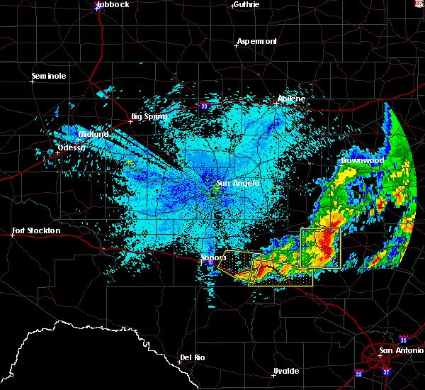 Radar Image for Severe Thunderstorms near Junction, TX at 5/20/2017 1:00 AM CDT