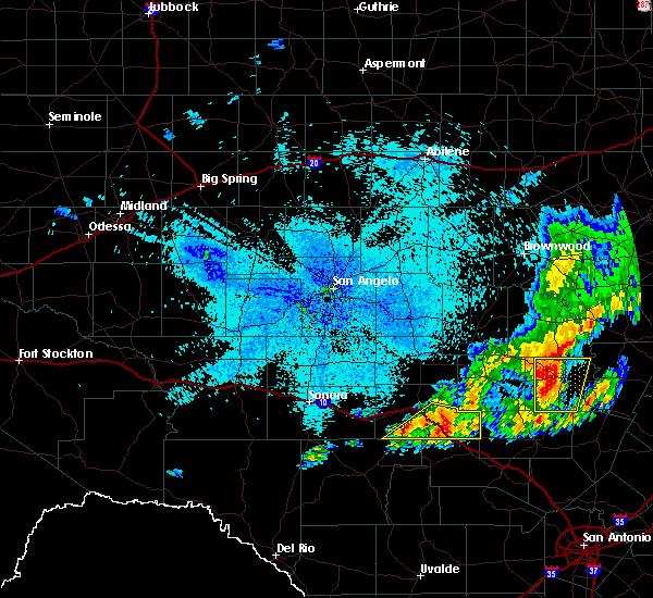 Radar Image for Severe Thunderstorms near Junction, TX at 5/20/2017 1:40 AM CDT
