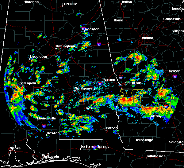 Radar Image for Severe Thunderstorms near Eufaula, AL at 5/20/2017 2:59 PM EDT