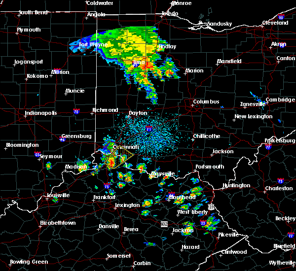 Radar Image for Severe Thunderstorms near Cincinnati, OH at 5/20/2017 3:00 PM EDT