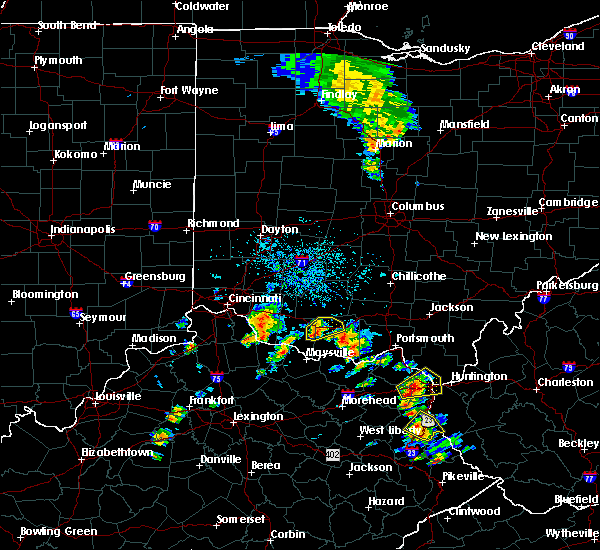 Radar Image for Severe Thunderstorms near Winchester, OH at 5/20/2017 4:00 PM EDT