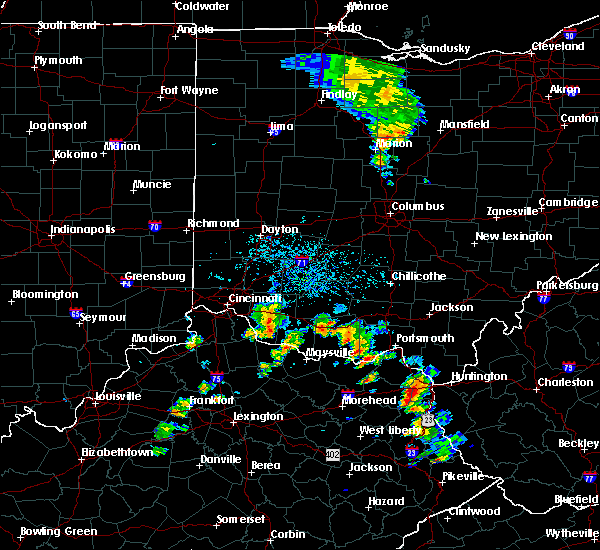 Radar Image for Severe Thunderstorms near Winchester, OH at 5/20/2017 4:13 PM EDT