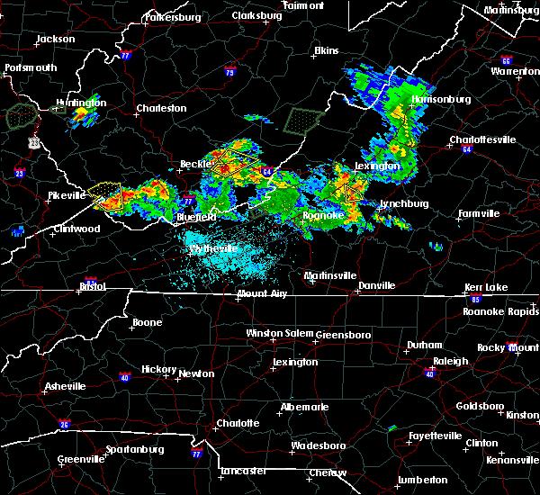 Radar Image for Severe Thunderstorms near Buchanan, VA at 5/20/2017 5:56 PM EDT