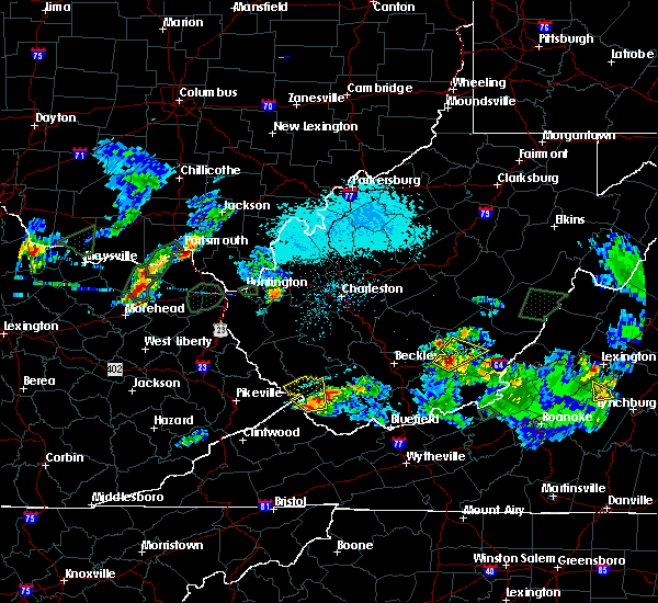 Radar Image for Severe Thunderstorms near Justice, WV at 5/20/2017 5:57 PM EDT