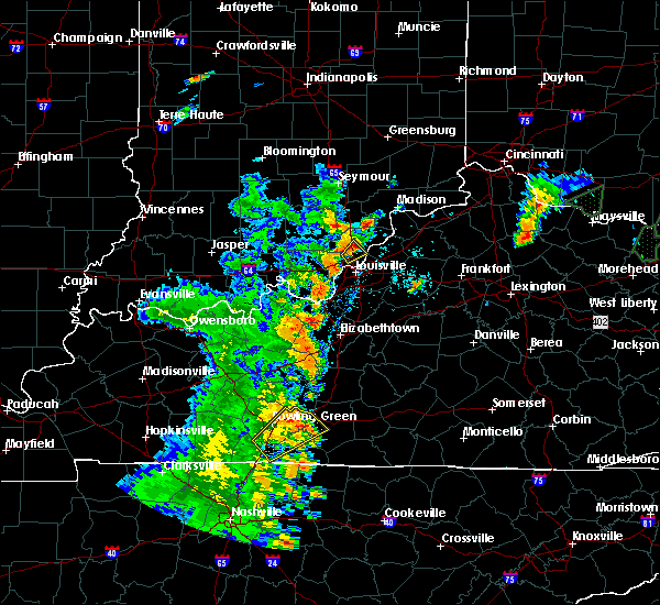 Radar Image for Severe Thunderstorms near Jeffersonville, IN at 5/20/2017 6:25 PM EDT