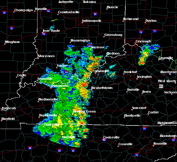 Radar Image for Severe Thunderstorms near Henryville, IN at 5/20/2017 6:37 PM EDT