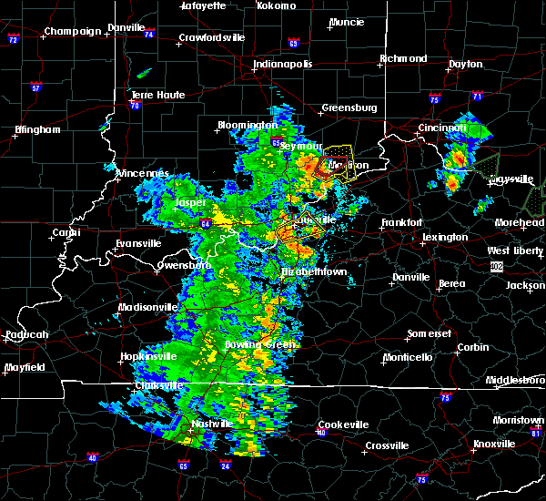 Radar Image for Severe Thunderstorms near Carrollton, KY at 5/20/2017 7:11 PM EDT
