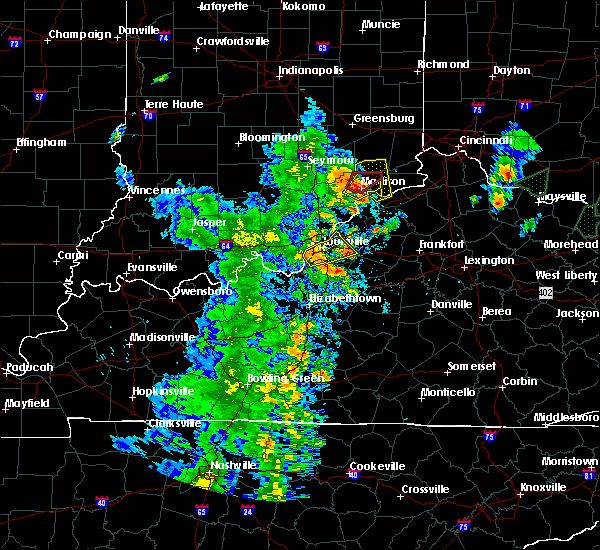 Radar Image for Severe Thunderstorms near Utica, KY at 5/20/2017 7:17 PM EDT
