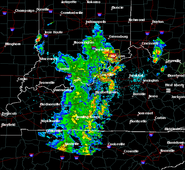 Radar Image for Severe Thunderstorms near Utica, KY at 5/20/2017 7:27 PM EDT