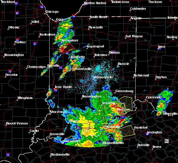 Radar Image for Severe Thunderstorms near Darlington, IN at 5/20/2017 7:34 PM EDT
